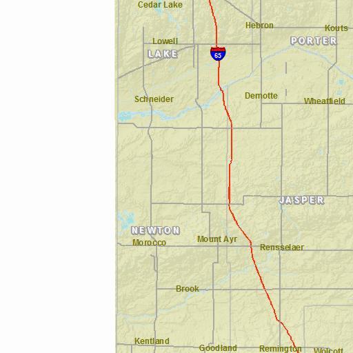 Hebron Indiana Map.Indianamap Nhd Swipe Map