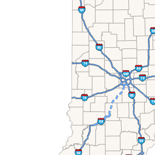 IndianaMAP - Indiana maps with cities