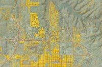 Shows the Four GIS data layers that are regularly collected from local and county GIS offices and combined into a seamless statewide dataset (IDSI was started in 2008 by IGIC, IDHS, IOT, and others).